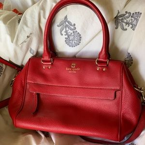Lightly used red Kate spade cross body